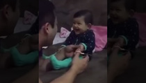 Too Cute -- Baby Cracks Up While Getting Nails Clipped (VIDEO)