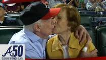President Jimmy Carter -- Still GETTING IT ... in the Stands at Braves Game (VIDEO)