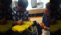 Manny Pacquiao -- KO's $2,500 Louis Vuitton Bag ... By Signing It