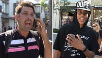 Shaquille O'Neal -- Crashes Son's TMZ Moment ... I'll Approve His Questions (VIDEO)