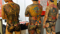 Show Us Your Tats -- Ink Enthusiasts Strip For Exotic Tattoo Expo