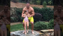 Tim Tebow -- Jacked, Shirtless, Tossing Children (VIDEO)
