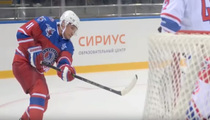 Vladimir Putin Shoots ... Scores! On 63rd Bday (VIDEO)