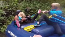 A River Wild -- Two Girls Duke It Out Whitewater Rafting (VIDEO)