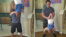 Daring Dad Gives Daughter Wild Ride ... Flip Out Over This Baby Tossin' Video!