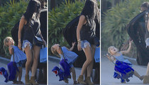 Kourtney Kardashian -- Toddler Down!! Car Door Hits Penelope (PHOTOS)