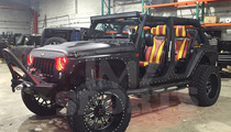 Floyd Mayweather -- 1st Pics Of Replacement Jeep ... Gator-Skinned Seats!?
