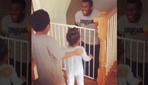 NFL's Daniel Fells -- Emotional Return Home ... After 3 Weeks In Hospital (Video)