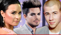 Adam Lambert -- There's No Beef With Me Demi and Nick