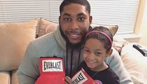 Floyd Mayweather -- Gives Boxing Gloves to Leah Still ... To Beat Up Cancer!!!