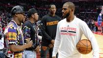 Chris Paul -- Schmoozin' with Huge Stars ... Before Clips Game