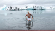 Justin Bieber -- Caution in Iceland!! That Water Is F-f-freezing