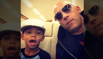 Vin Diesel Flies Son On Private Jet ... To Make Warriors Game!