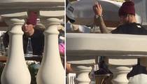 Justin Bieber -- Upset In Europe ... Flips Chair and Bails