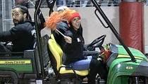 Karrueche Tran -- Grand Marshall at Celebrity High School ... on a Tractor!!!