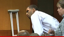 Glen Rice Jr. Crutches Into Court In Gunshot Case