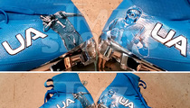 Cam Newton -- CUSTOM DABBING CLEATS ... For Turkey Day Game