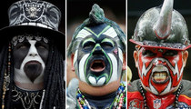 NFL's Most Spirited Spectators -- See The Face Paint Fanatics