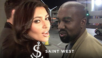 Kim and Kanye Gotta Buck Up to Get Baby Saint's Website