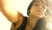 Michelle Rodriguez -- Armpit Hair Growing Fast, Possibly Furious (PHOTO)