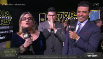 Carrie Fisher -- Hijacks 'Star Wars' Premiere ... Curses Up a Storm