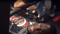 Cam Newton -- Xmas Bench Press Battle ... With Kevin Hart
