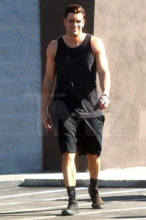 Mark Salling -- Out in Public