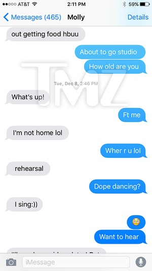 Tyga and Molly O'Malia's Text Messeges