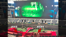 Dallas Cowboys Stadium -- MOVIE MAKEOVER ... For '13 Hours' Premiere