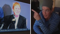 Raiders Owner -- Haircut Clowned By Charlie Sheen (VIDEO)