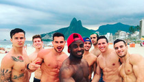 Team USA Gymnastics -- Abs. Abs. Abs. ... On Brazil Beach (PHOTOS)
