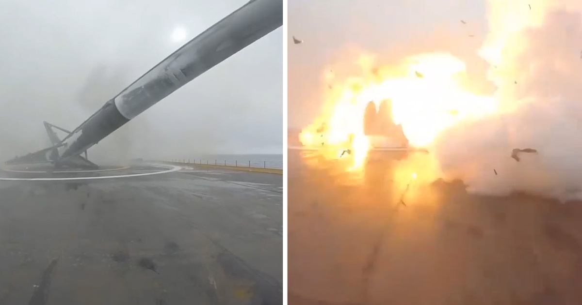 Elon Musk -- Space X Rocket Goes Boom!! (VIDEO)