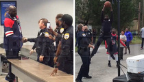 Shaq -- Surprises Basketball Cop ... Game On!!!