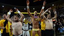 Michael Phelps -- Man Junk Screws With Beavers ... At ASU Game (VIDEO)