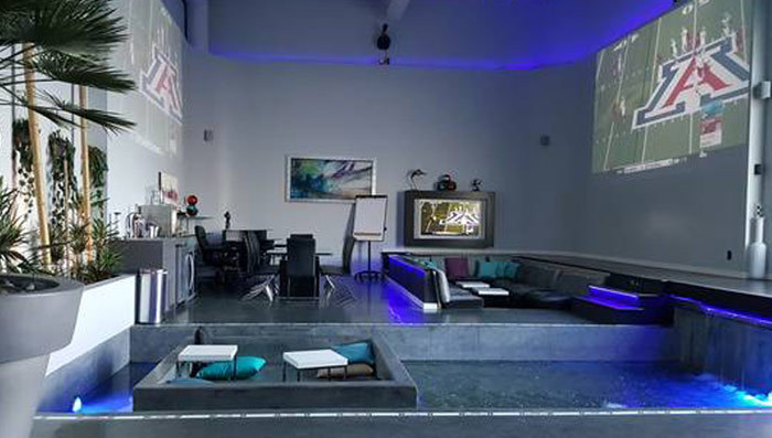 Nfl 39 s antonio brown rents baller sb bachelor pad pool for The living room channel 10 catch up
