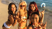 NFL Cheerleaders -- Bikini Stuntin' In Hawaii