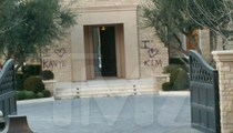 Kim Kardashian & Kanye West -- New House Gets Tagged! And They're Cool With It