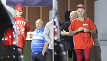 Justin Bieber -- Take Your Grandpa to Work Day! (PHOTO)