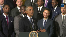 President Obama -- Roasts the Warriors ... Burns Steph Curry (VIDEO)
