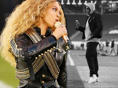 Awww! Wait Until You See Rare Family Photo of Beyonce, Blue Ivy & Jay Z at the Super Bowl!