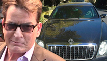 Charlie Sheen -- My Maybach's Fit for the Pope ... But Could Be Yours