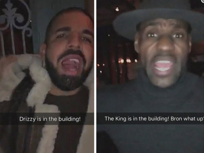 LeBron James -- Secret VIP Party with Drake ... And David Blaine?! (VIDEO)