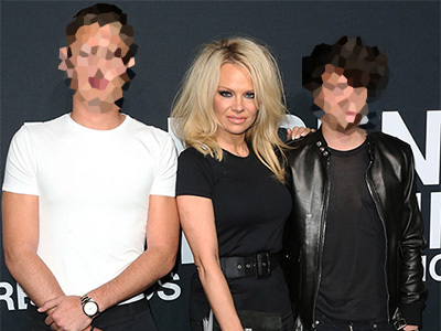 Pam Anderson Steps Out w/BOTH Sons ... They Are SO HOT -- But Who's Your Favorite?