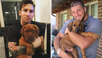 Big Athletes With Tiny Dogs For Love Your Pet Day