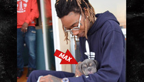 Wiz Khalifa -- New BFF is Young, Wild and Free ... Furry Too! (PHOTOS)