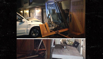 Kim Cattrall -- Some Kid Plowed Into My House!! (PHOTOS)