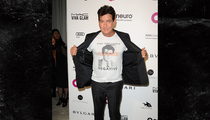 Charlie Sheen -- Makes HIV Statement at Elton John's AIDS Foundation Party (PHOTO)