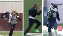 Rich Eisen -- Smoked By Smokin' Cheerleader ... In 40 Yard Dash (VIDEO)