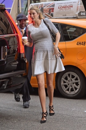 Pregnant Ivanka Trump Goes Out For Breakfast