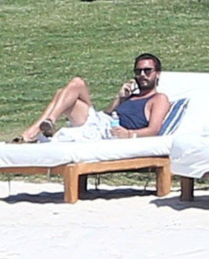 Scott Disick Vacationing in Mexico